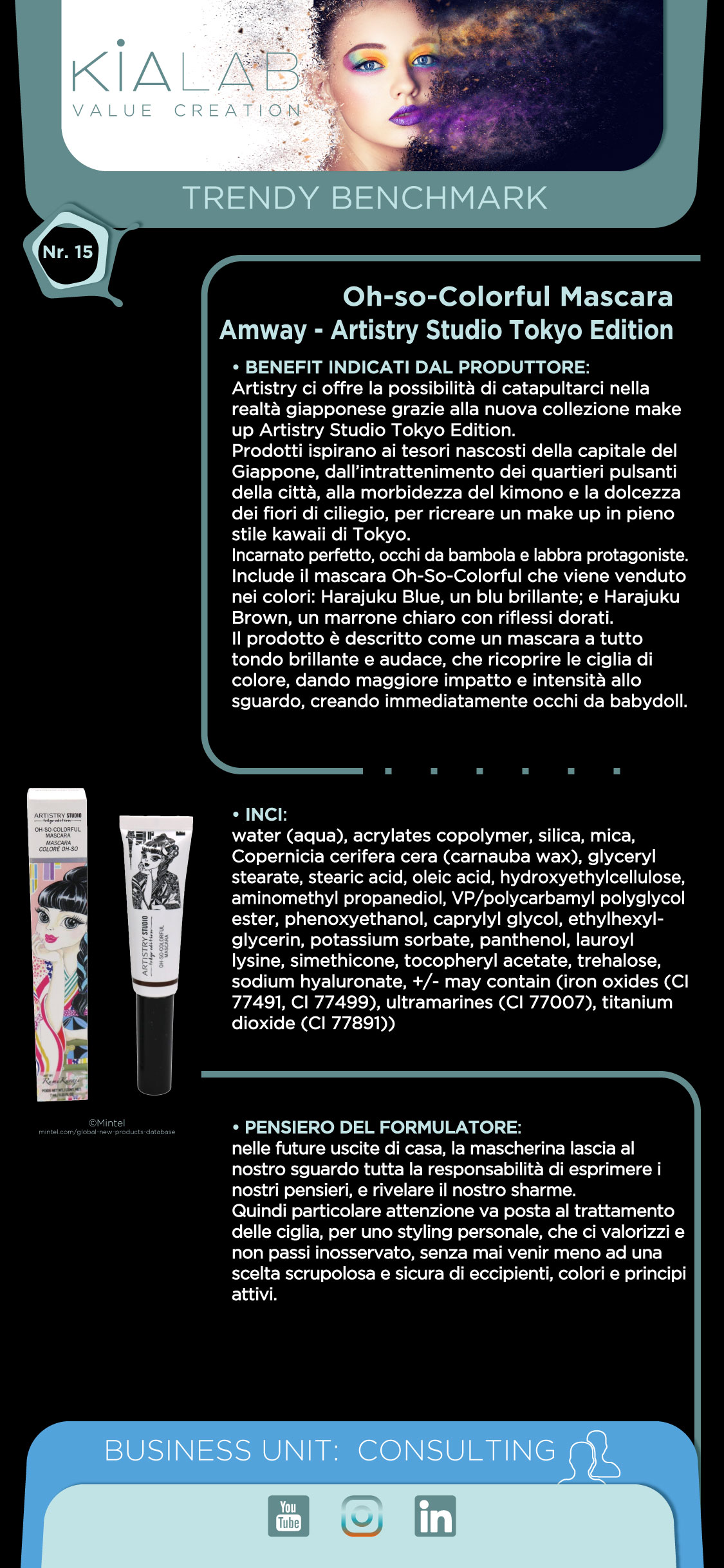 Trendy Benchmark Kialab Oh-So-Colorful Mascara Amway® Artistry Studio Tokio Edition